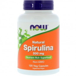 Now Foods Spirulina - Natural, 500 mg - 120 kaps