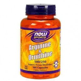 Now Foods Arginine & Ornithine - 100 kaps