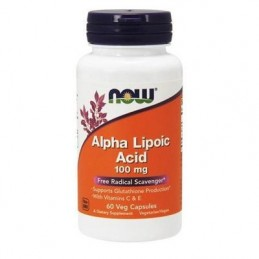 Now Foods Kwas Alfa Liponowy 100mg 60kaps
