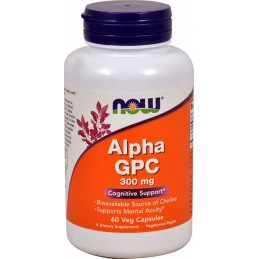 NOW Foods Alpha GPC - 300 mg - 60kaps