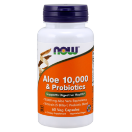 Now Foods Aloe 10 000 & Probiotics 60kaps