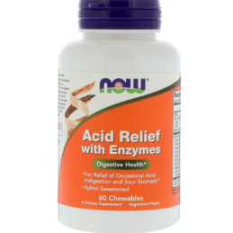 Now Foods Acid Relief with Enzymes - 60 kaps