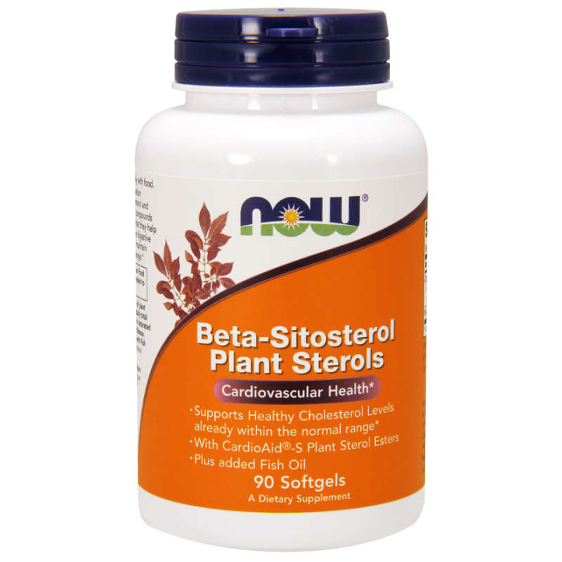 Now Foods Beta-Sitosterol Plant Sterols 90 kaps