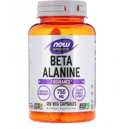 Now Foods Beta Alanine 750mg 120 kaps