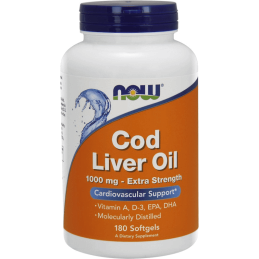 Now Foods Cod Liver Oil 180 kaps