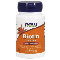 Now Foods Biotyna 1000mcg 100 kaps